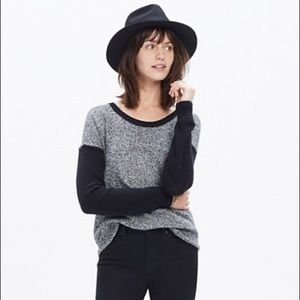 Madewell Chronicle Texture Grey and Black Sweater